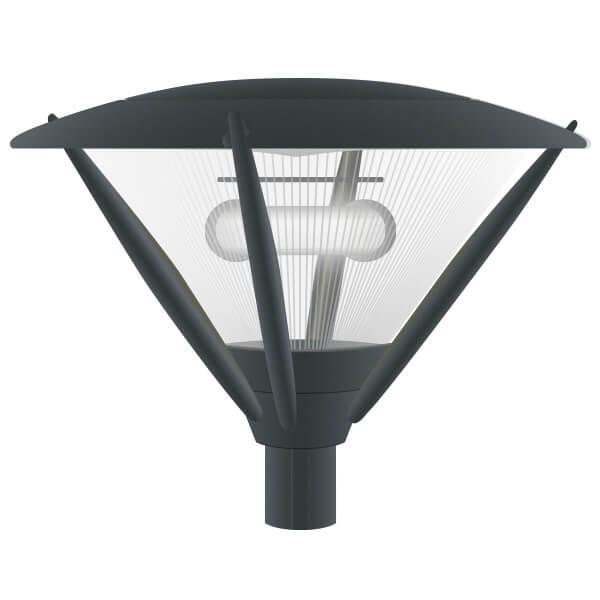 Lampione per arredo urbano a induzione magnetica tortona - Lampioni da giardino fotovoltaici ...