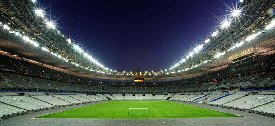 Euro 2016 - Stade de France, Parigi - Illuminazione a ioduri metallici